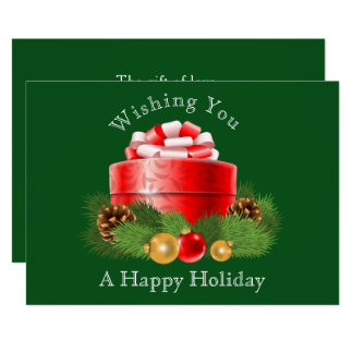 Pretty Holiday Gift Image Christmas/Holiday Card