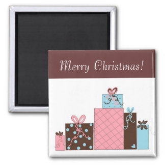 Pretty Holiday Parcels Magnet