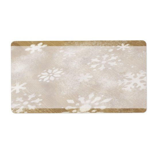 Pretty Holiday Snow Flakes Labels