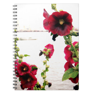 Pretty Hollyhock Floral Notebook