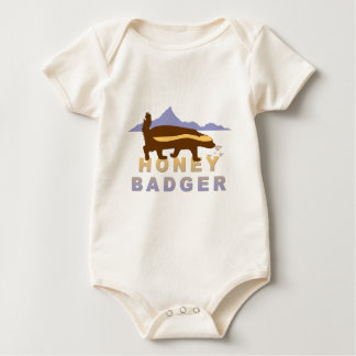 pretty honey badger baby bodysuit