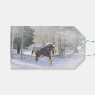 Pretty Horse in the Snow Christmas Gift Tags