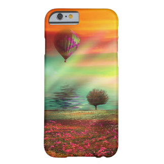 Pretty Hot Air Balloon Fantasy Landscape Barely There iPhone 6 Case