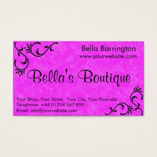Pretty Hot Pink Fuschia Business Card Template