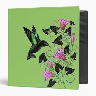 Pretty Hummingbird and Flowers Notebook 3 Ring Binders