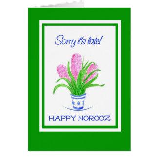 Pretty Hyacinths Belated Norooz, Persian New Year Card