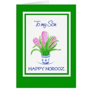 Pretty Hyacinths Persian New Year for Son Card