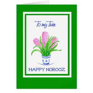 Pretty Hyacinths Persian New Year for Twin Card