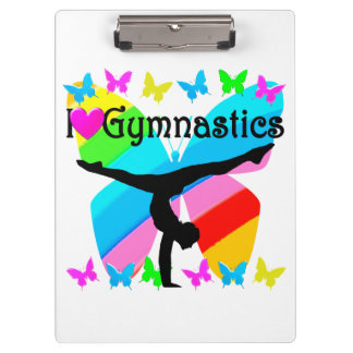 PRETTY I LOVE GYMNASTICS DESIGN CLIPBOARD
