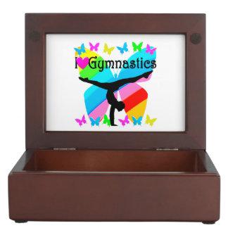 PRETTY I LOVE GYMNASTICS DESIGN KEEPSAKE BOXES