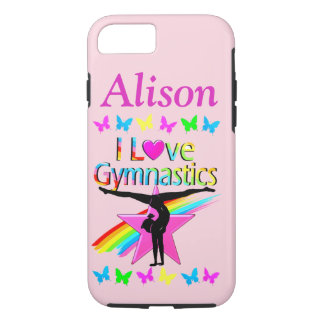 PRETTY I LOVE GYMNASTICS PERSONALIZED PHONE CASE