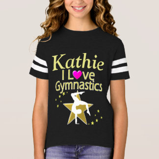 PRETTY I LOVE GYMNASTICS PERSONALIZED T SHIRT