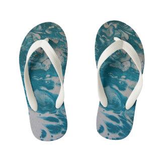 Pretty in Blue Kid's Flip Flops