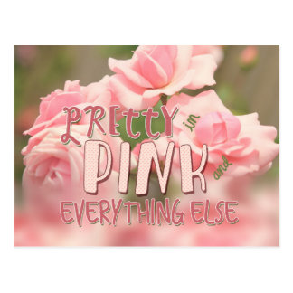 Pretty in Pink and Everything Else Hybrid Tea Rose Postcard