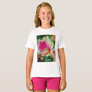 Pretty in Pink and White Fringed Tulips T-Shirt