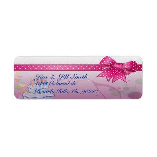 Pretty In Pink Bday Set Custom Return Address Label