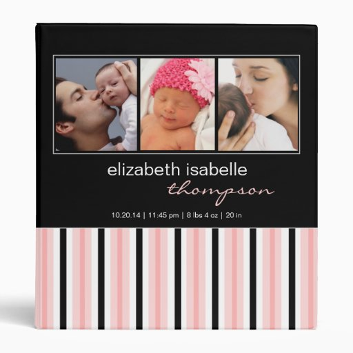 Pretty in Pink & Black Baby Girl Photo Binder