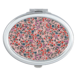 PRETTY IN PINK CHILDS PLAY DAISY PATTERN MIRROR COMPACT MIRRORS