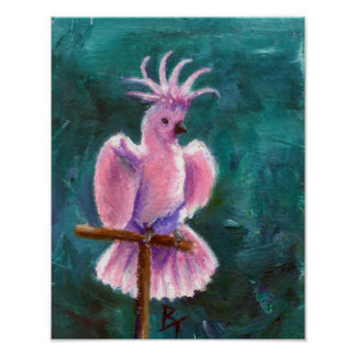 Pretty In Pink Cockatoo Poster