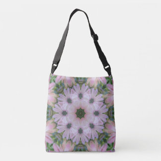 Pretty in Pink Daisies Mandala Cross Body/Tote Crossbody Bag