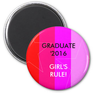 PRETTY IN PINK - GIRL'S RULE 2 INCH ROUND MAGNET