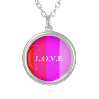 PRETTY IN PINK - GIRL'S RULE SILVER PLATED NECKLACE
