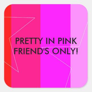 PRETTY IN PINK - GIRL'S RULE SQUARE STICKER