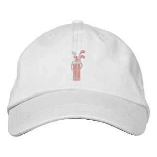 Pretty in Pink Golf Embroidered Hat