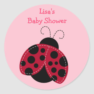 Pretty in Pink Ladybug Envelope Seals Stickers