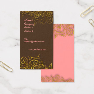 Pretty in Pink on chocolate w/ swirls profile card
