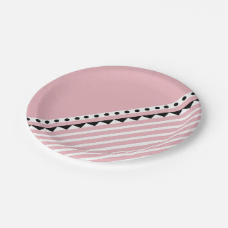 pretty in pink paper plates