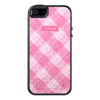 Pretty In Pink Pattern | Add Your Name OtterBox iPhone 5/5s/SE Case