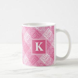 Pretty In Pink Pattern | Monogram Coffee Mug