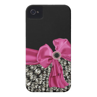 Pretty in Pink Rhinestone & Bow IPhone 4 Case