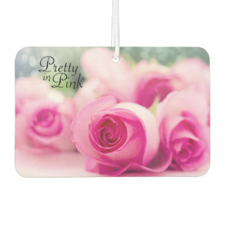 Pretty in Pink Roses Car Air Freshener