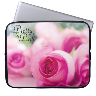 Pretty in Pink Roses Laptop Sleeve