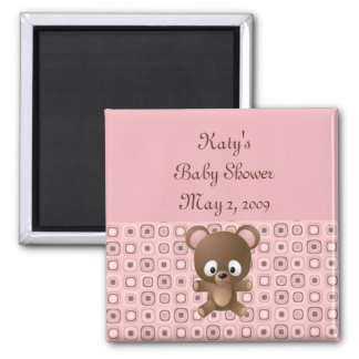 Pretty in Pink Shower Favor Magnet - Customized