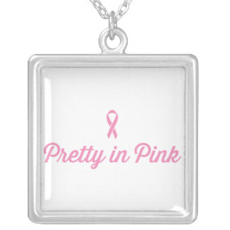 Pretty in Pink Silver Plated Necklace