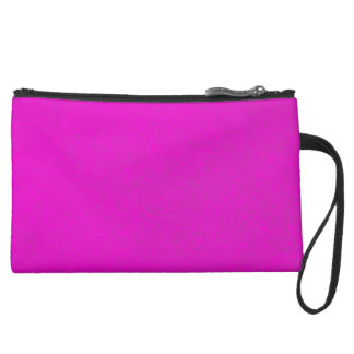 Pretty in Pink Suede Leather Wristlet