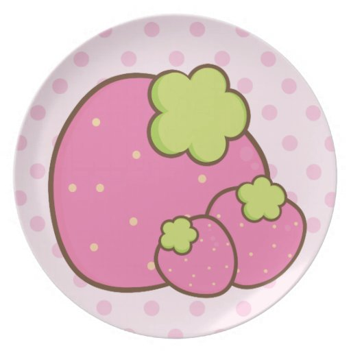 Pretty in Pink Summer Strawberries Party Plate