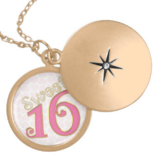 Pretty in Pink Sweet 16 Locket Necklace