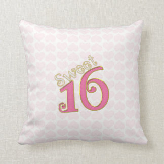 Pretty in Pink Sweet 16 Throw Pillow