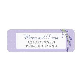 Pretty in Purple   Return Address Label