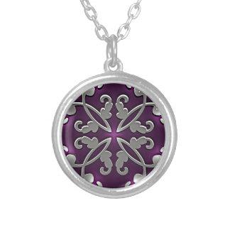 Pretty in Purple Round Pendant Necklace