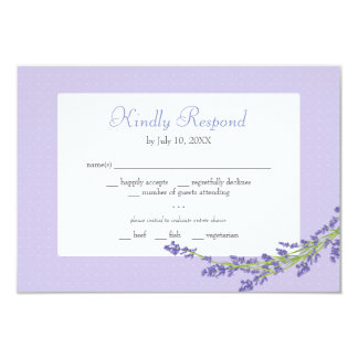 Pretty in Purple | Wedding Respond Card