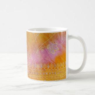 Pretty Indian Fabric Textile Abstract Coffee Mug