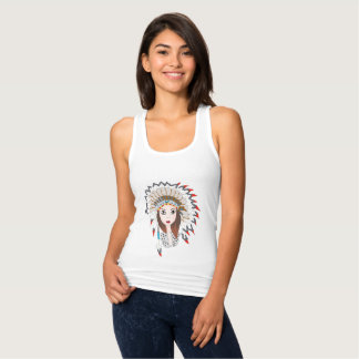Pretty indian girl tank top