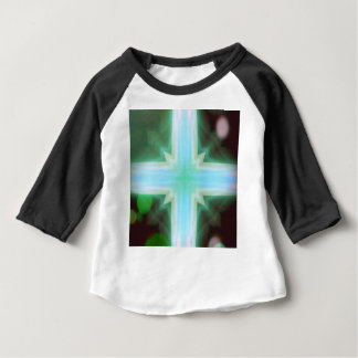 Pretty Inspirational Cross Shaped Pattern Baby T-Shirt
