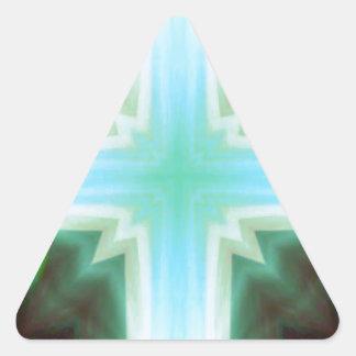 Pretty Inspirational Cross Shaped Pattern Triangle Sticker