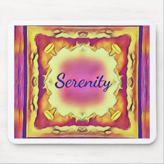 Pretty Inspirational Framed 'Serenity' Mouse Pad